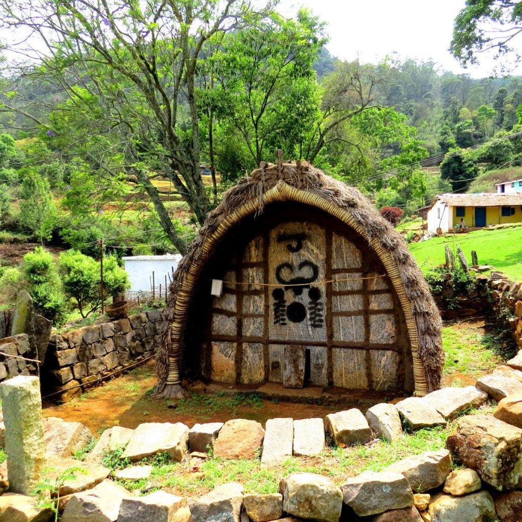 A temple of the Todas in the Nilgiris