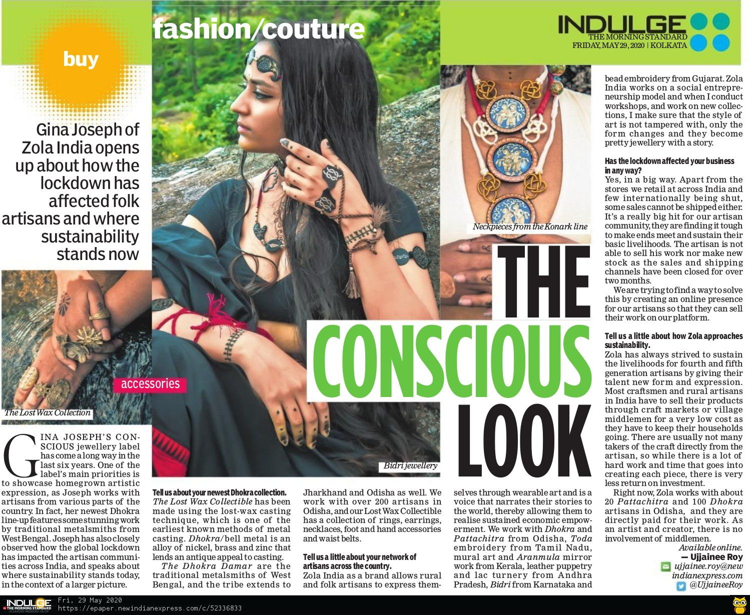 The New Indian Express- Indulge